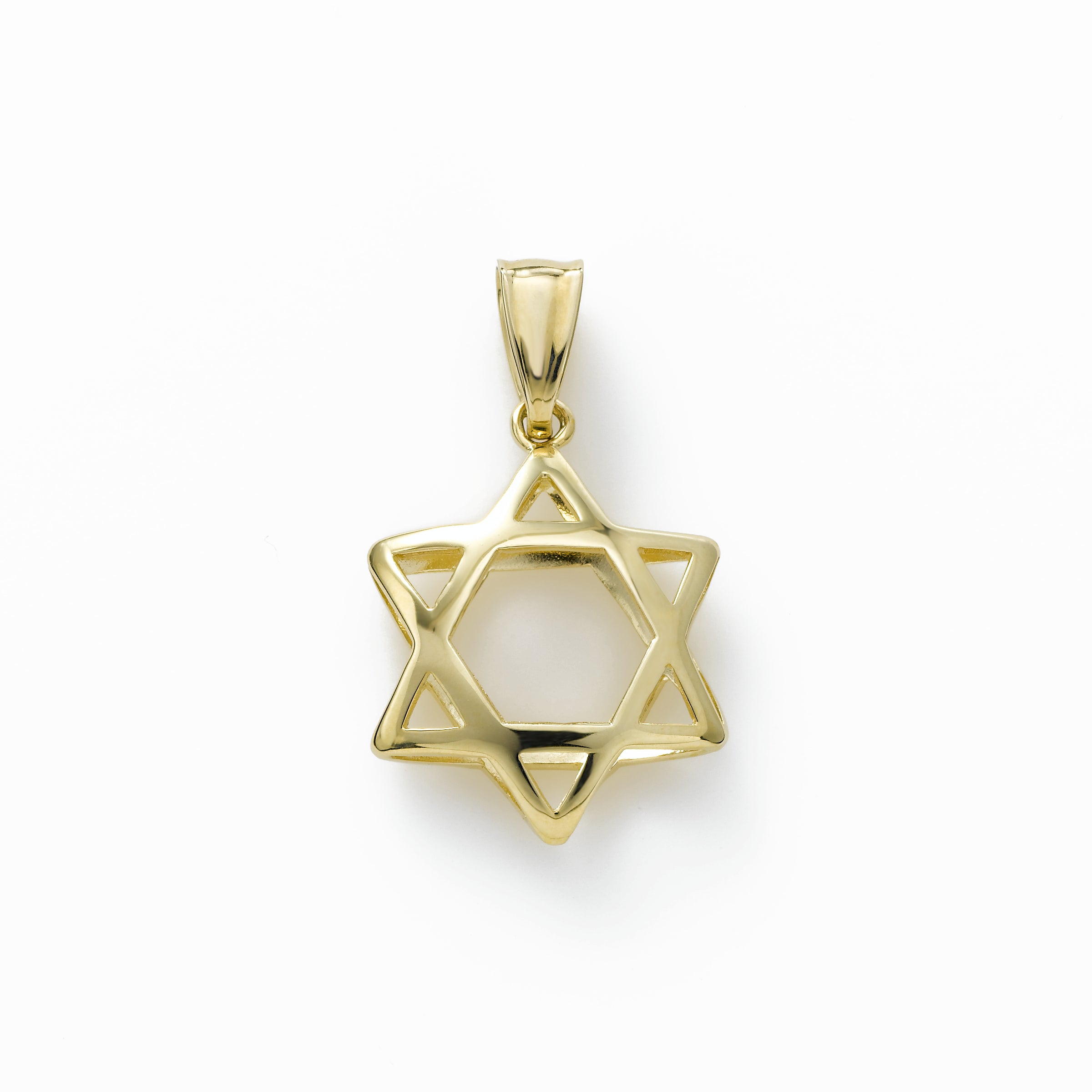 Star of David Silhouette Charm, 14K Yellow Gold