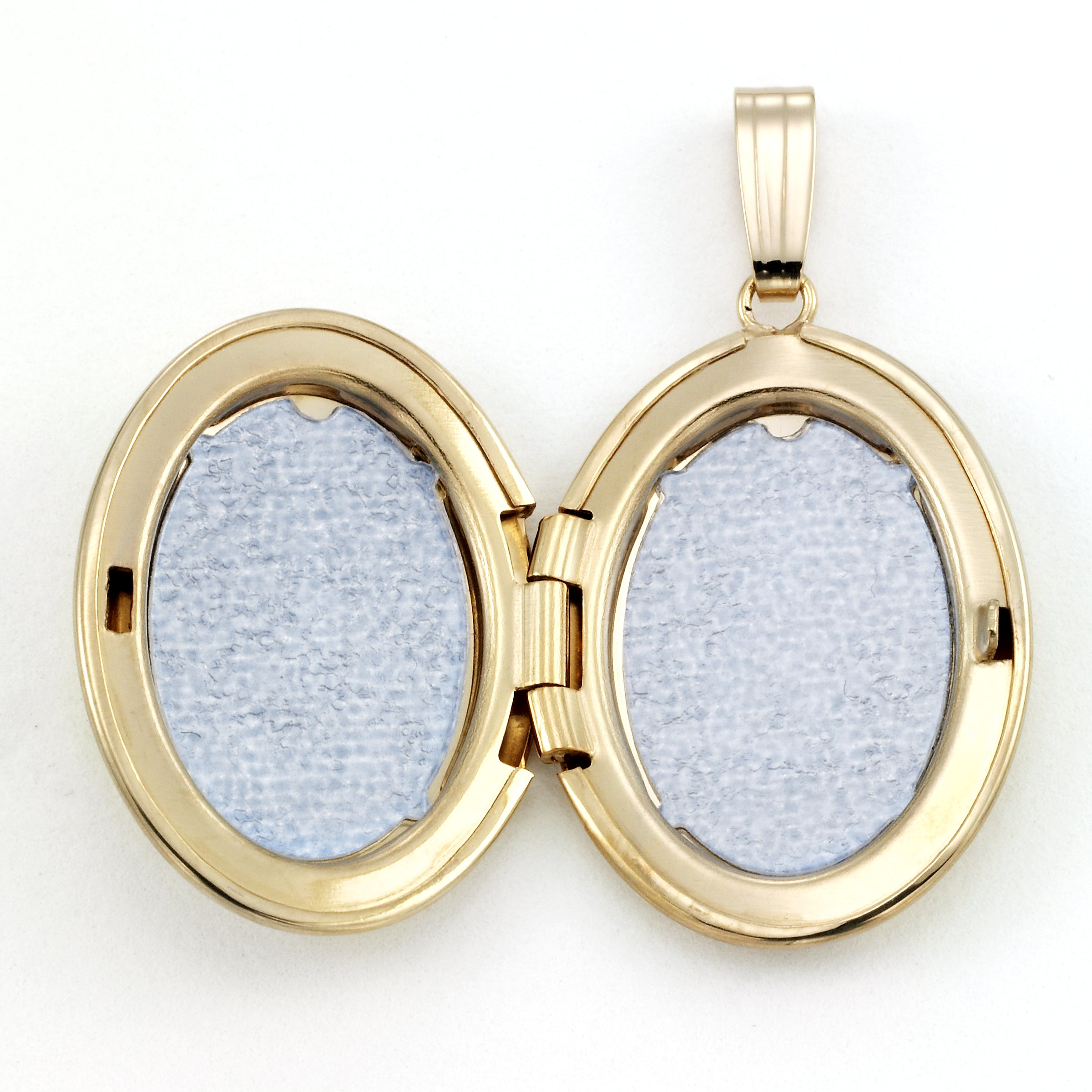 Oval Locket, Diamond Accent, 14 Karat Yellow Gold