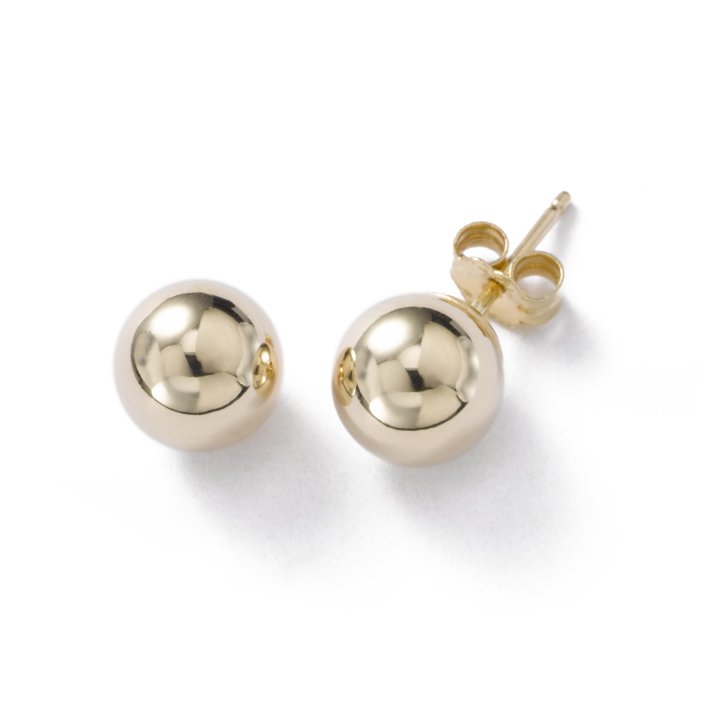 Gold Ball 5-8mm Earring, 14K Yellow Gold