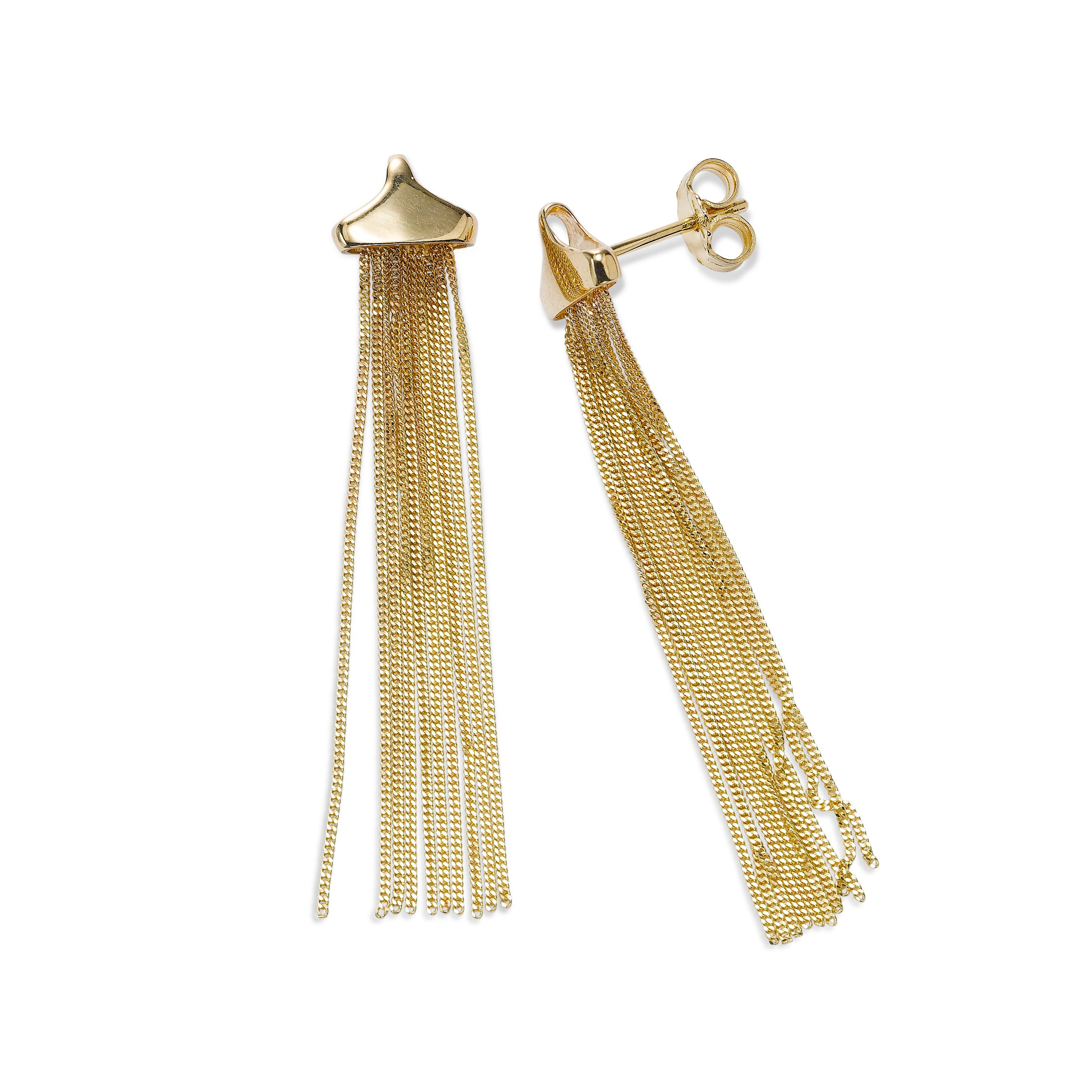 Tassel Dangle Earrings, 14K Yellow Gold