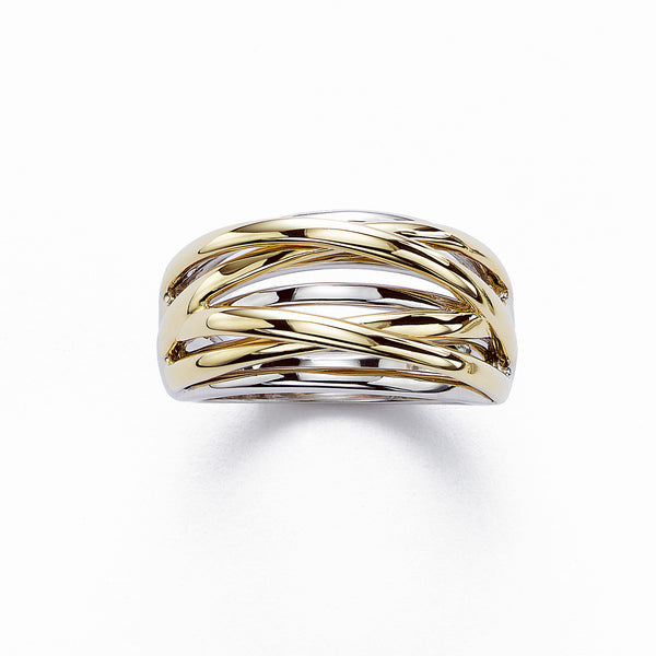 Multi Band Gold Ring, 14K