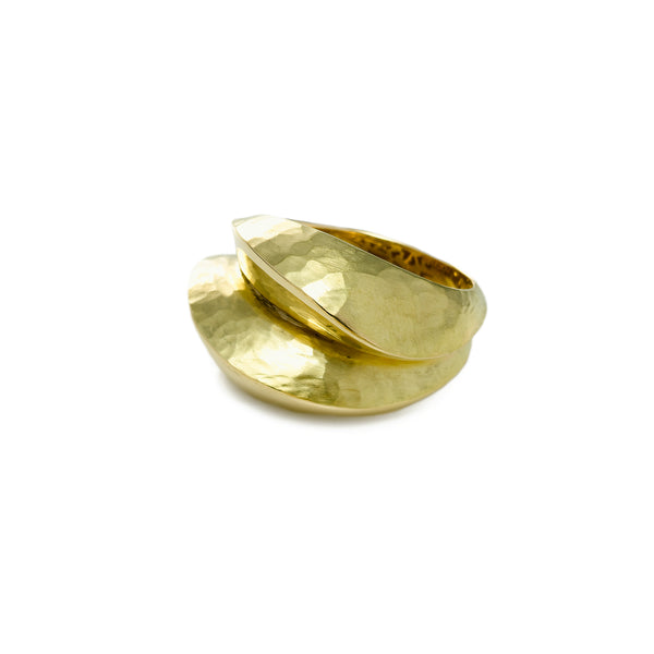 Bold Sculptured Ring, 18K Yellow Gold