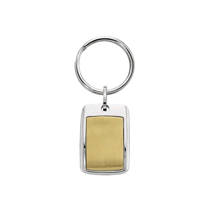 Gold Tone Key Ring, Stainless Steel