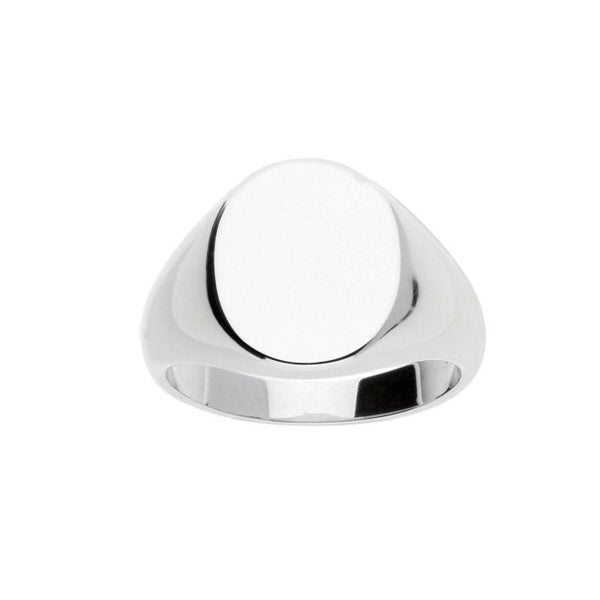 Oval Signet Ring, Steling, Silver and 18K Gold Plating