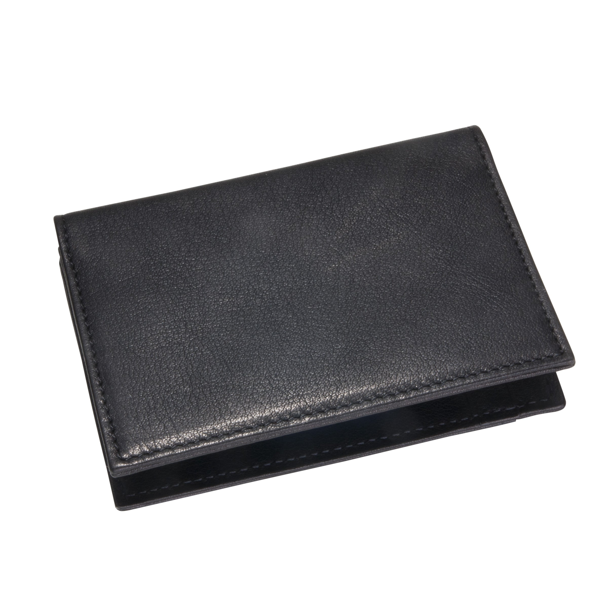 Mini Wallet, Black Leather