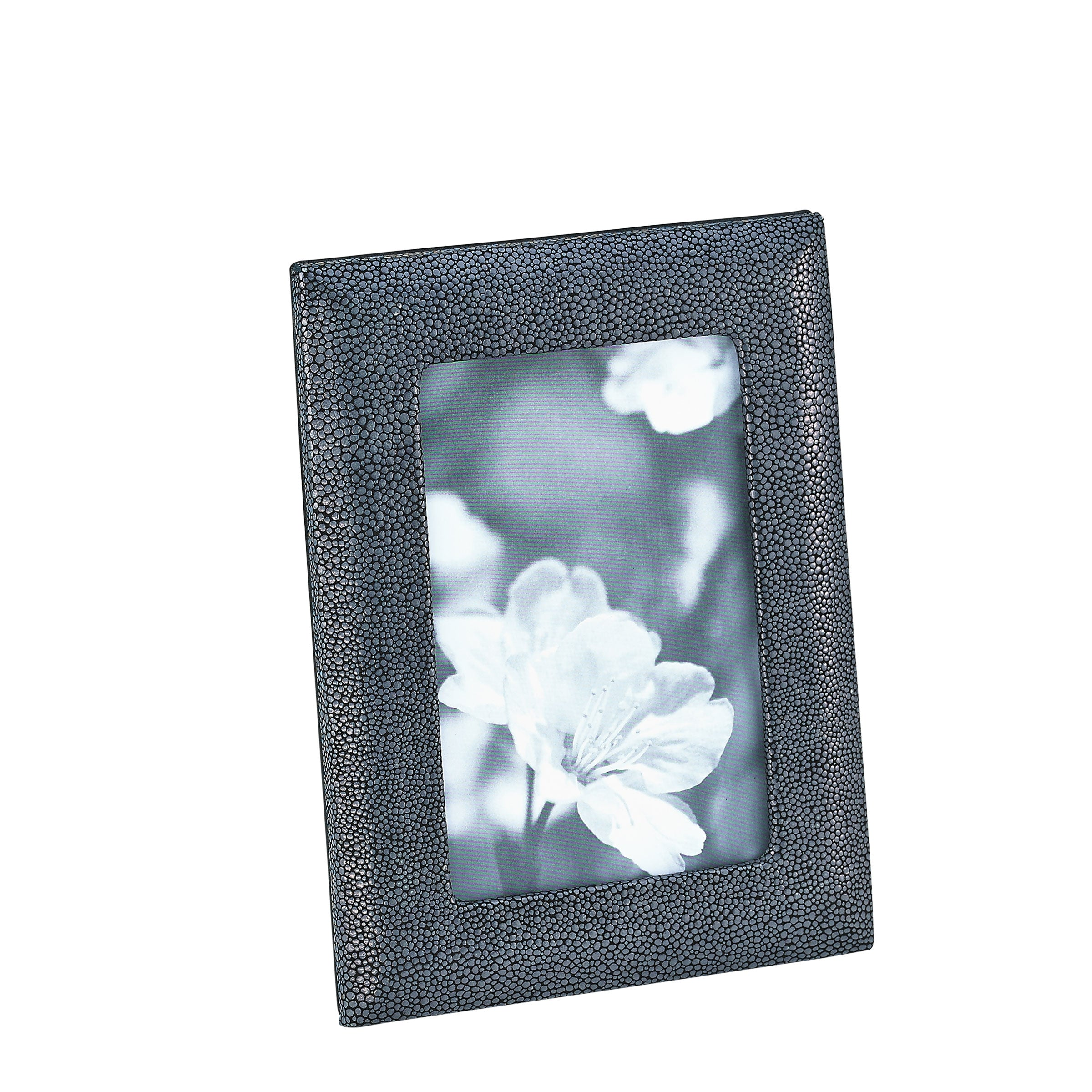 Embossed Shagreen Leather Picture Frame, 4x6 Inches