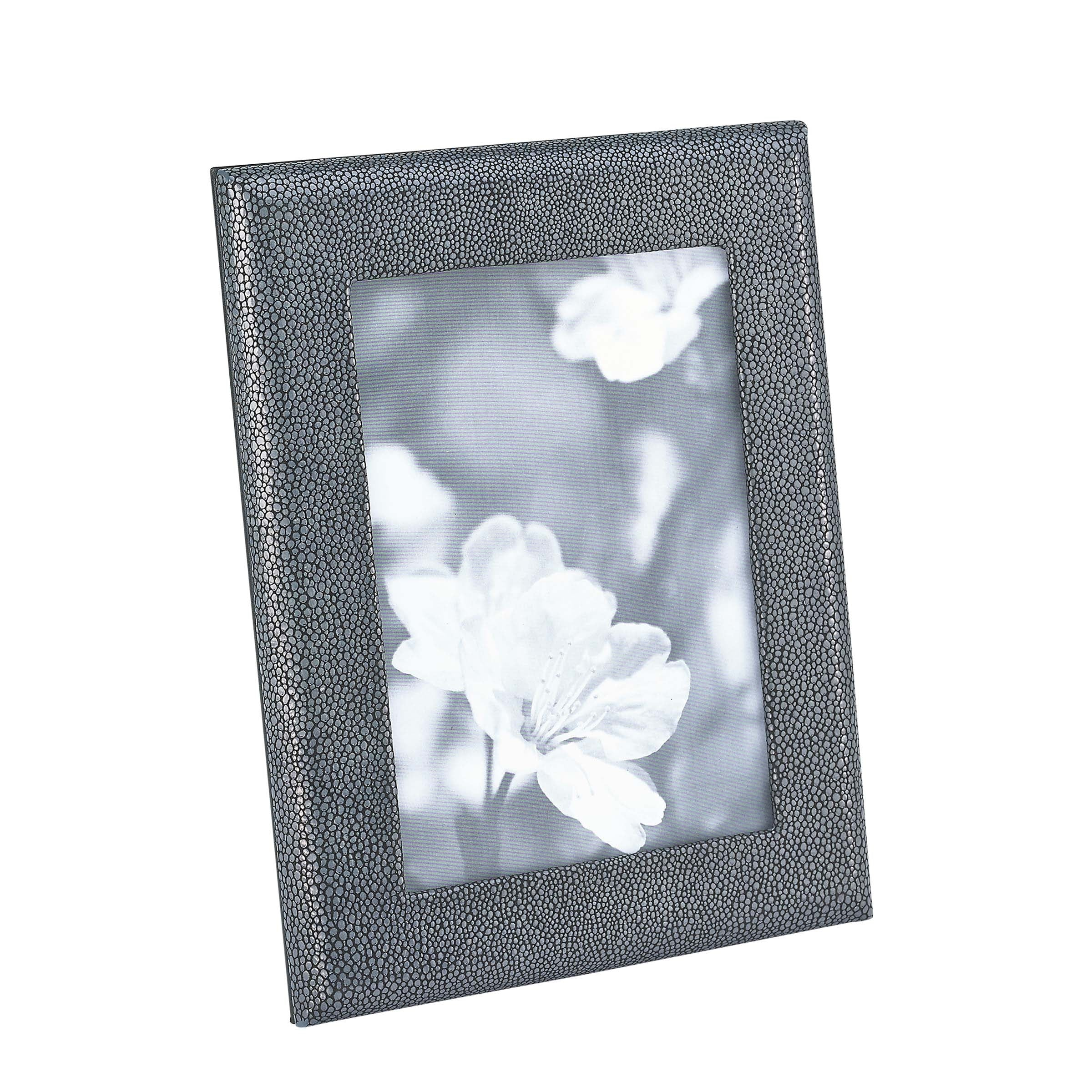 Embossed Shagreen Leather Picture Frame, 5x7 Inches