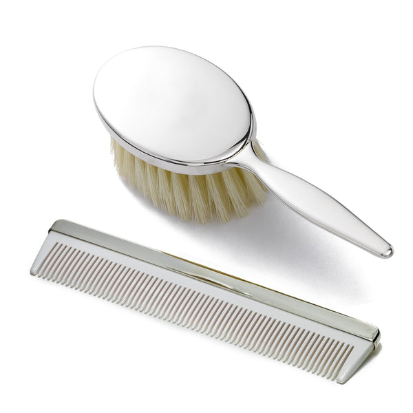 Baby Brush and Comb Set, Sterling Silver