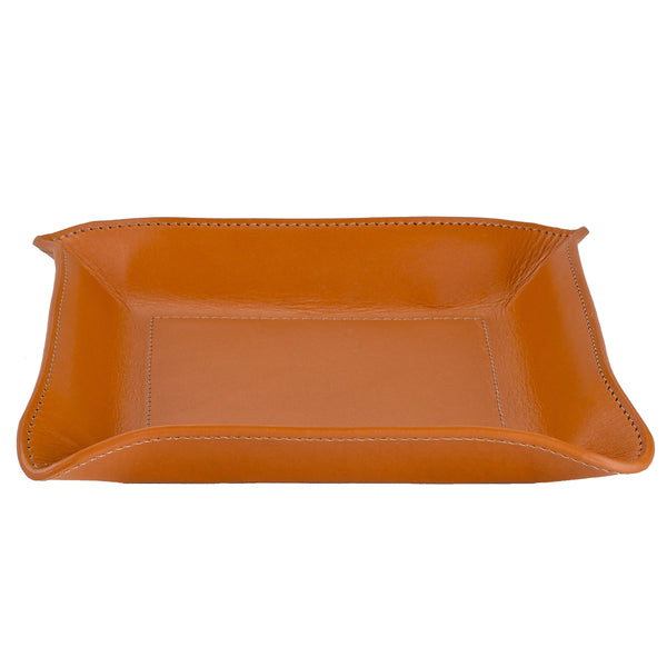 Versatile Leather Tray Catchall, Brown Vachetta Leather