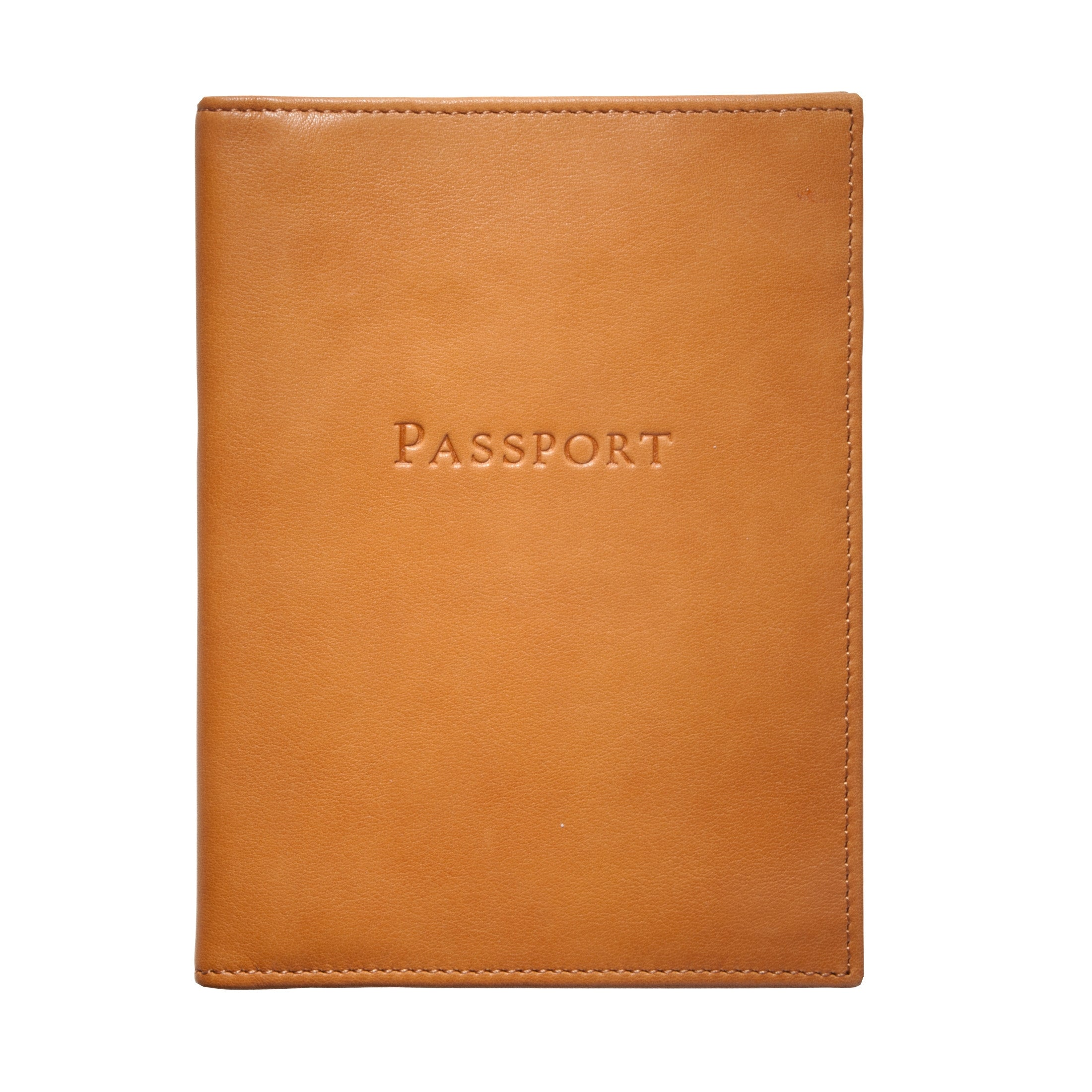 Passport Holder, Brown Leather