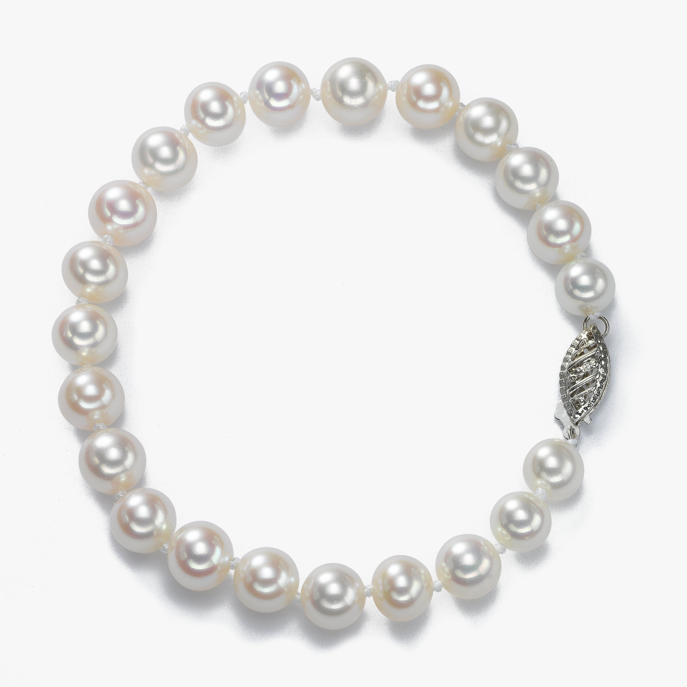 7.5 x 7 MM Freshwater Cultured Pearl Bracelet, 14K