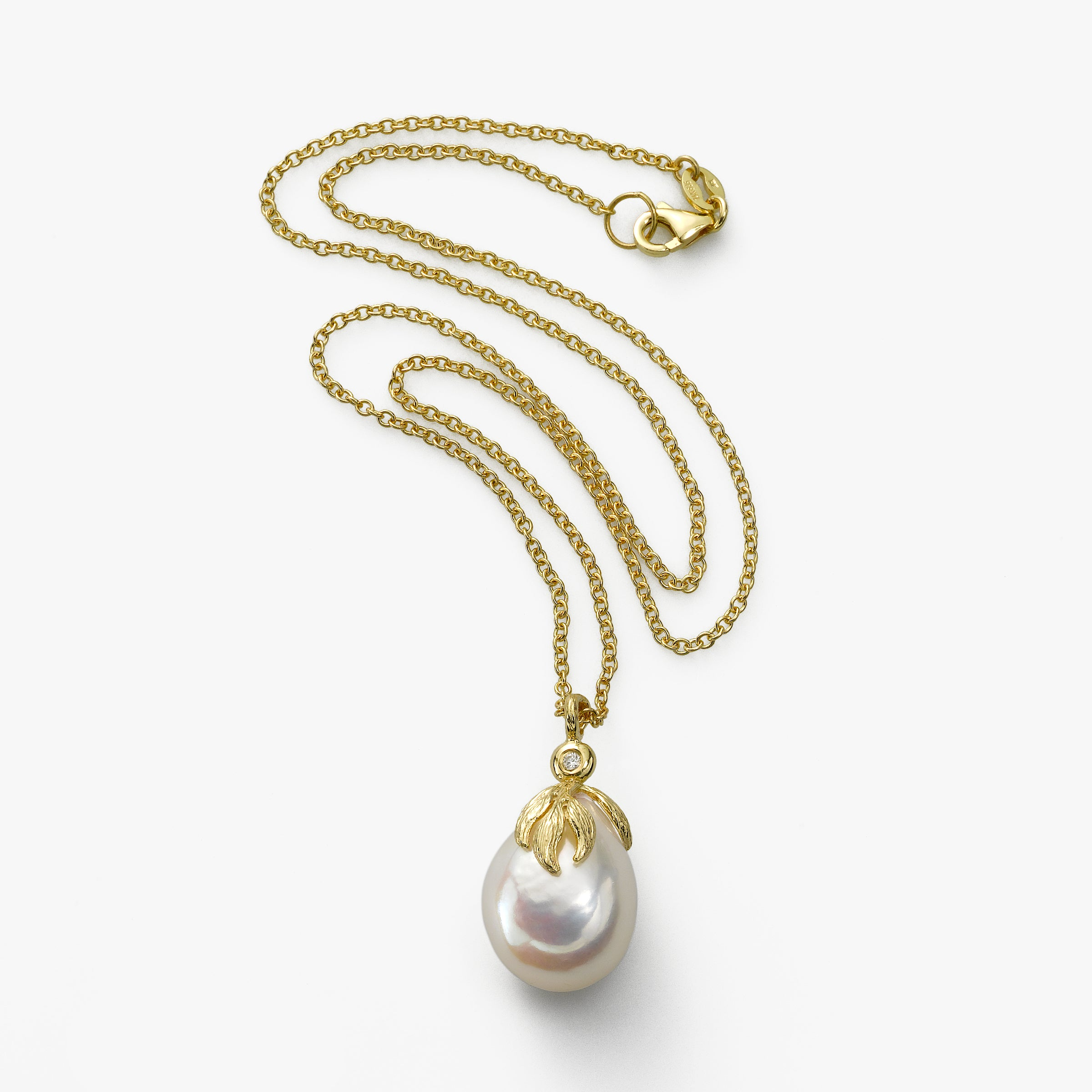 Baroque Cultured Pearl Pendant, 14K Yellow Gold
