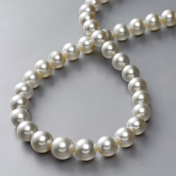 Natural Color South Sea Cultured Pearls, Graduate 12 to 9 MM, 17.50 Inches, 18K