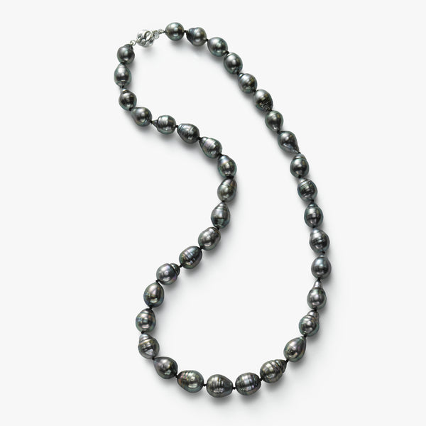 Natural Multi-Color Tahitian South Sea Cultured Pearls, 18 Inch, Sterling Silver