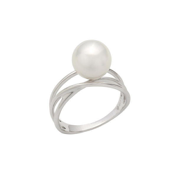 South Sea Cultured Pearl Ring, 14K White Gold