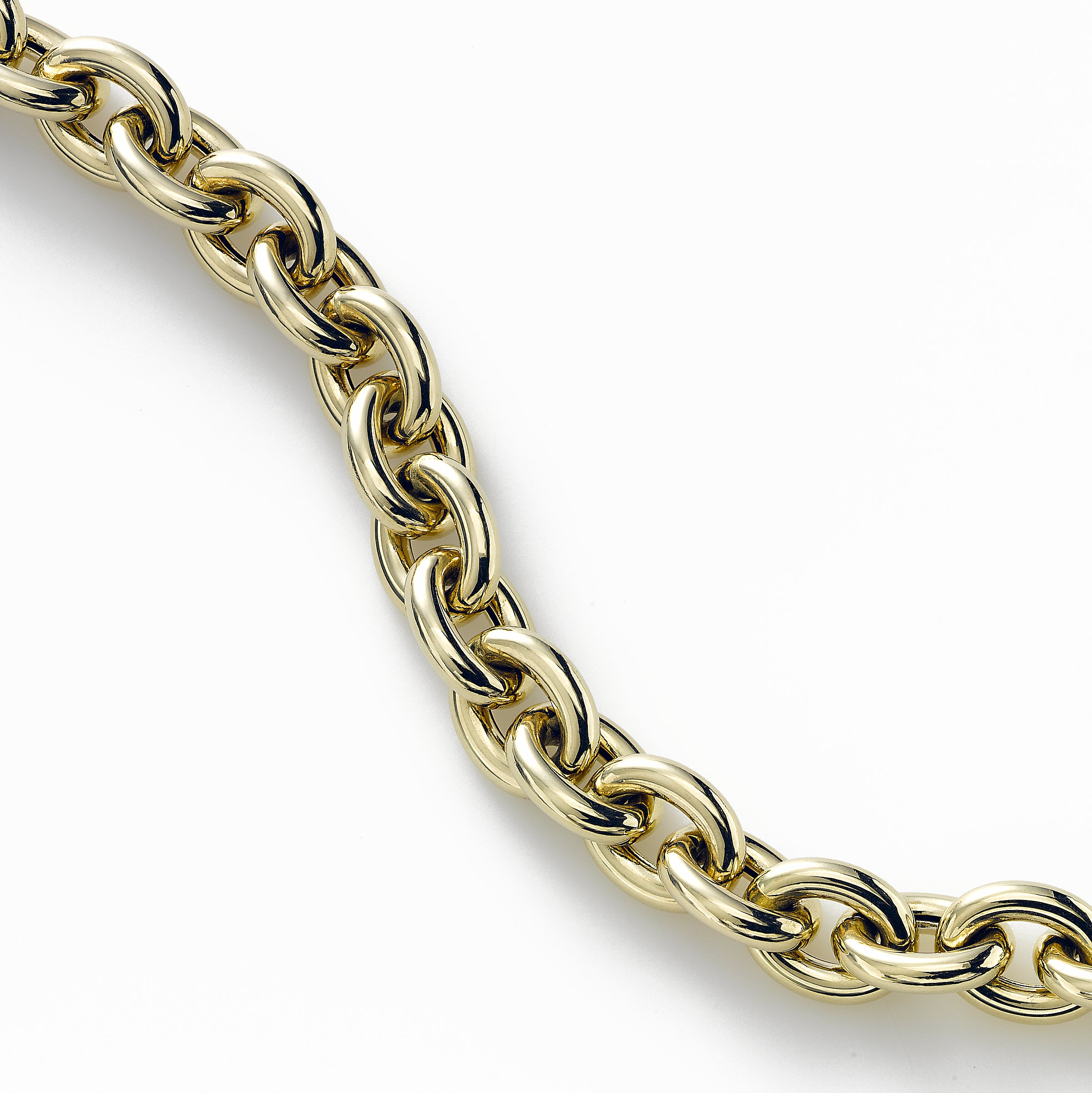 Polished Rolo Link Bracelet, 7.5 Inch, 14K Yellow Gold