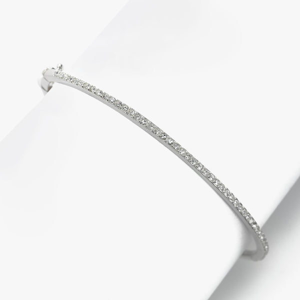 Crystal Bangle Bracelet, Sterling Silver, By Judith Jack