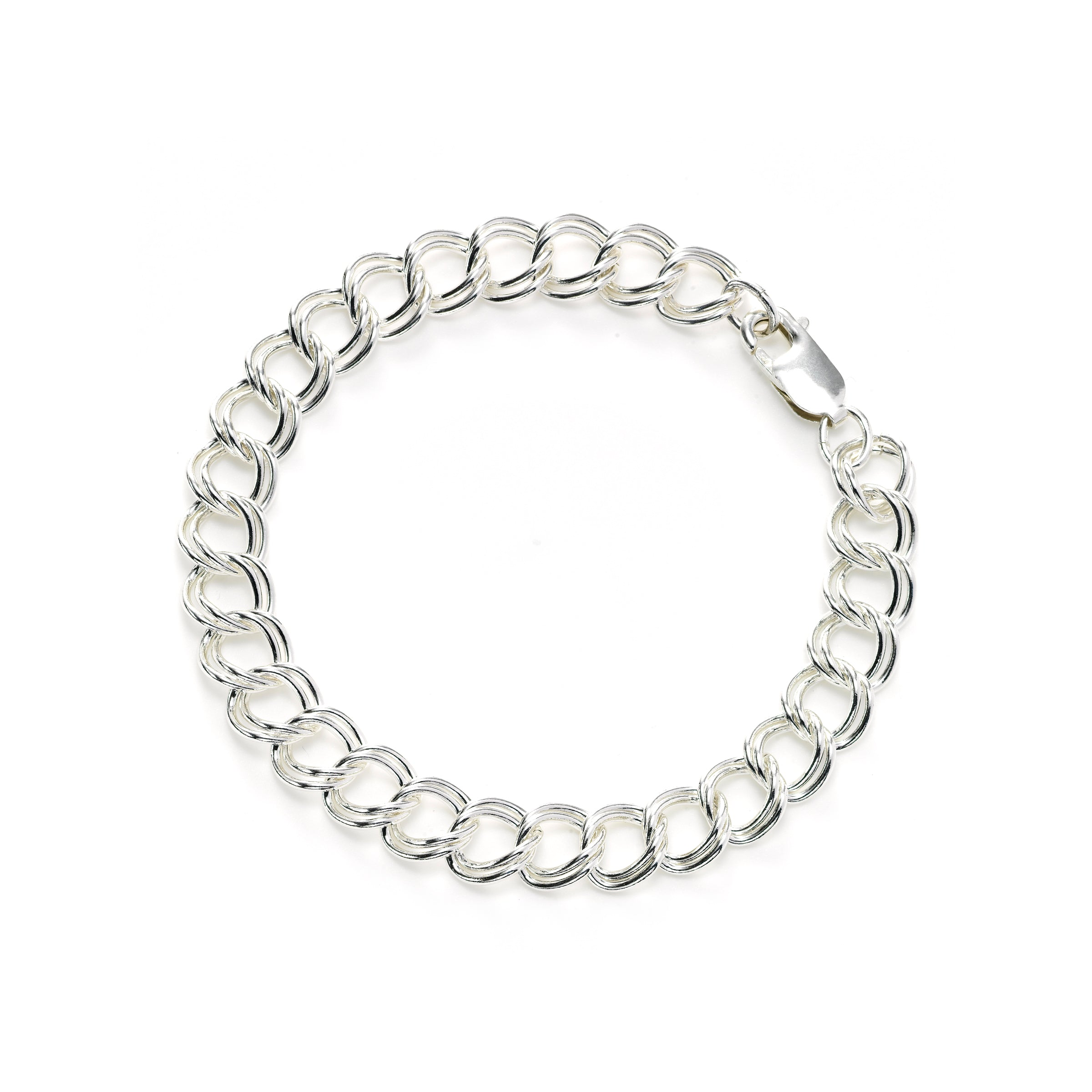 Open Chain Bracelet, Sterling Silver, 7.50 inches