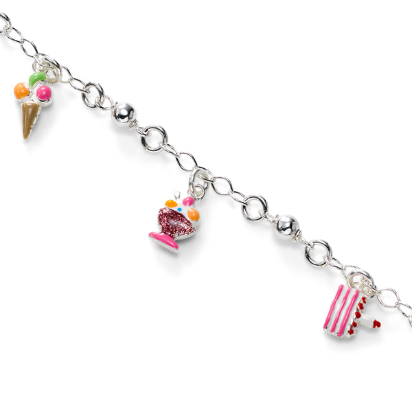 Birthday Theme Bracelet, Sterling Silver, 6.00 inches