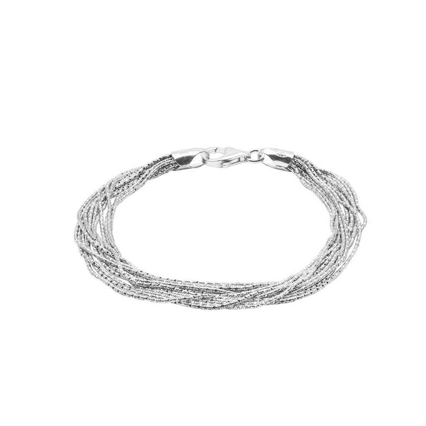 Multi-Strand Magic Bracelet, Sterling Silver with Platinum Plating