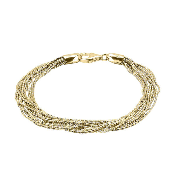Multi-Strand Magic Bracelet, Sterling with 18K Yellow Gold Plating