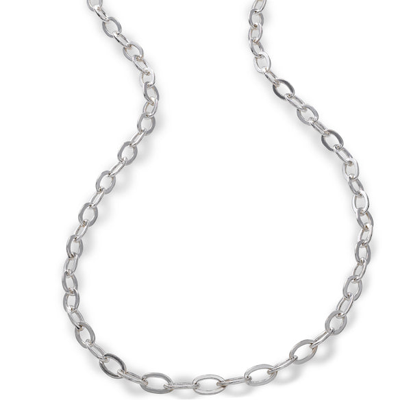 Oval Link Chain, 24 Inches, Sterling Silver