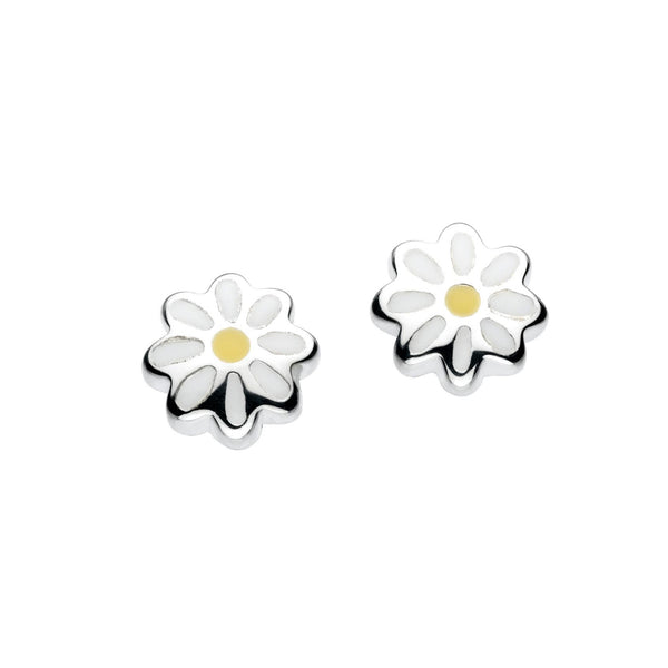 Daisy Stud Earrings, Sterling Silver