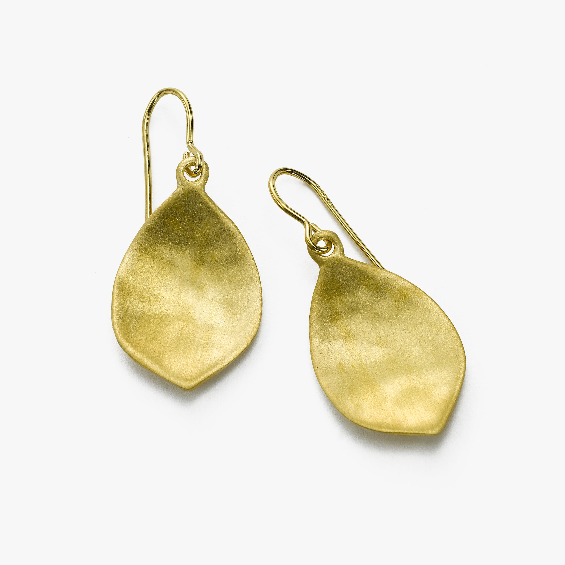Vermeil Earring with Textured Matte Pear Drop, by Sharelli
