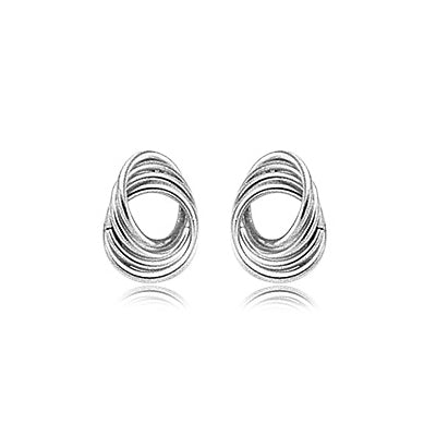 Nested Circles Drop Earrings, Sterling Silver