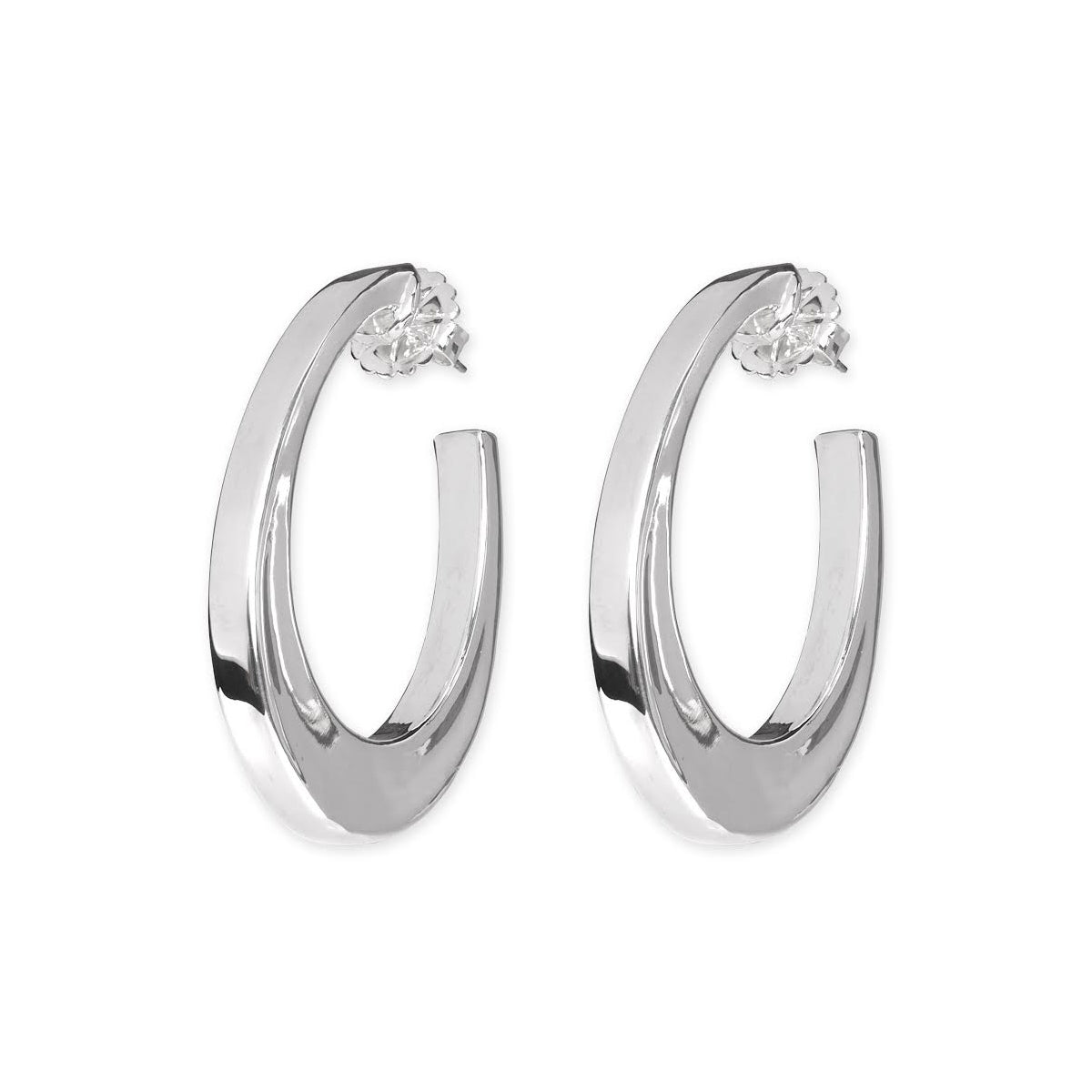 ddcf766b2 Medium Square Tube Oval Hoop Earrings, Sterling Silver | Silver Jewelry  Stores Long Island - Fortunoff Jewelry – Fortunoff Fine Jewelry