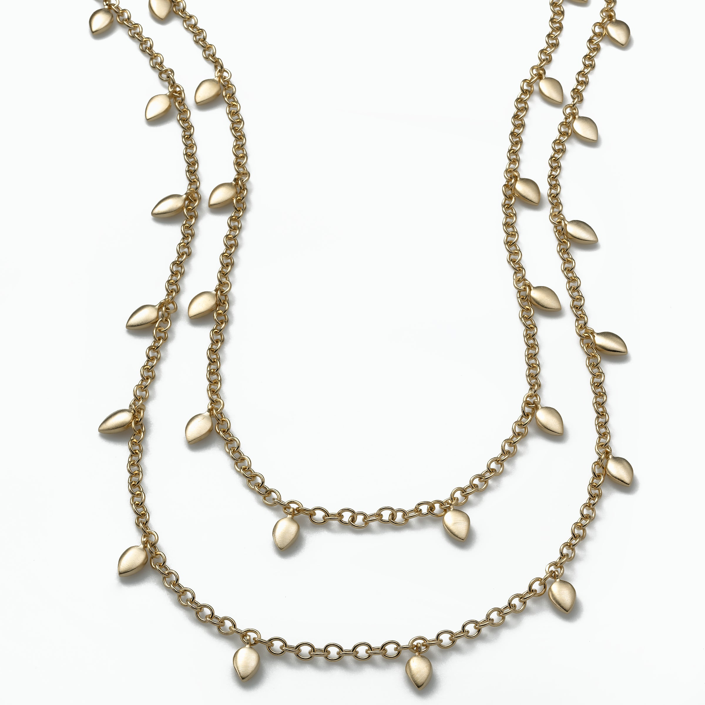 Real Jewels 48 inch Vermeil Chain Necklace, Sterling and 18K