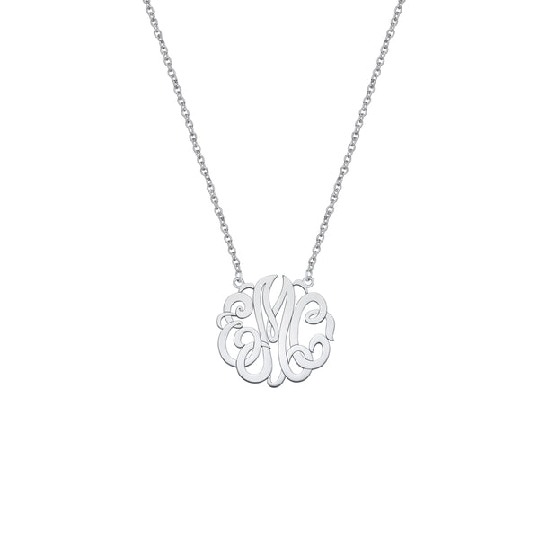 Monogram Pendant, Small, Sterling Silver