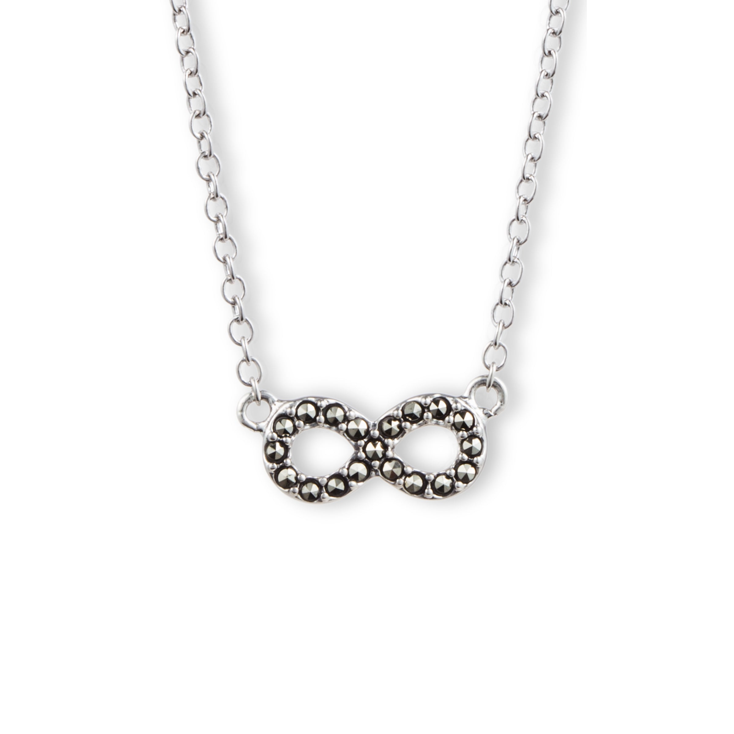 Reversible Figure Eight Design Necklace, Sterling Silver