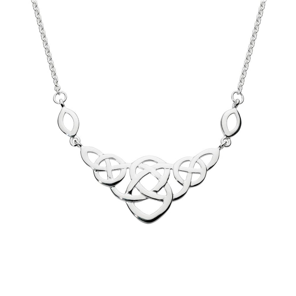 Heritage Celtic Large Open Knot Necklace, Sterling Silver