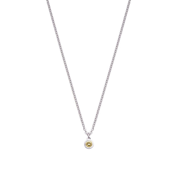 Single Drop Element Pendant, Sterling Silver with 18K Yellow Gold Plating