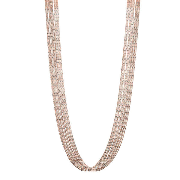 Multi-Strand Magic Necklace, Sterling with 18K Rose Gold Plating