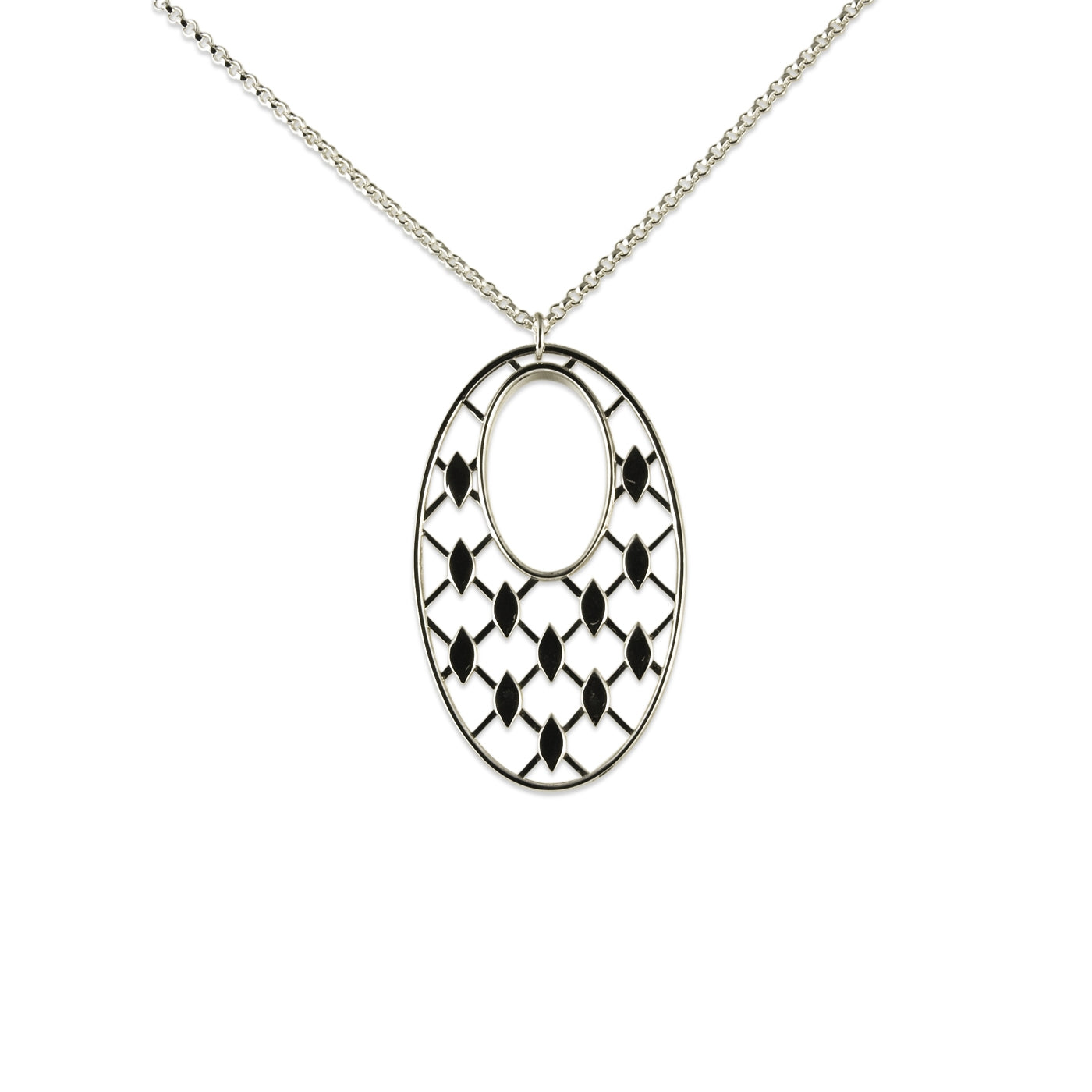 Oval Casablanca Pendant, Sterling Silver