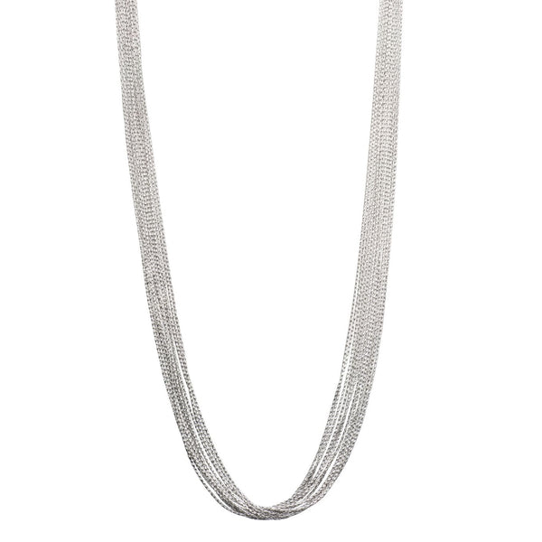 Multi-Strand Magic Necklace, Sterling Silver with Platinum Plating
