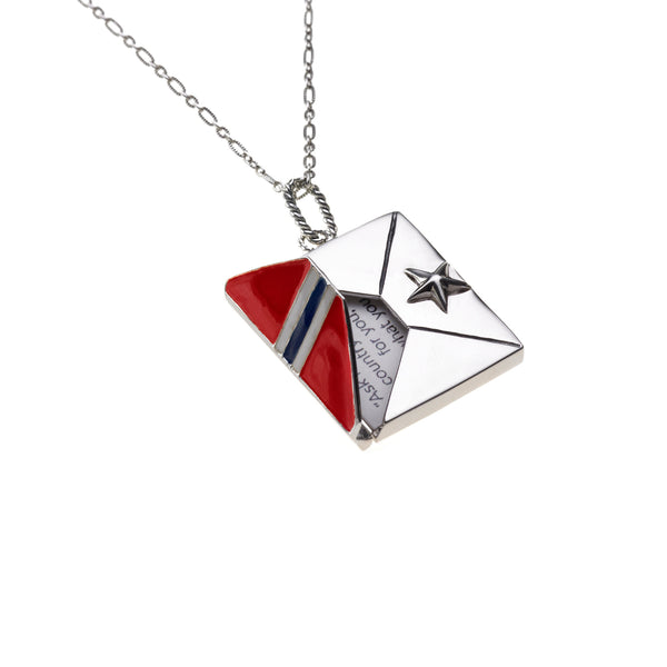 US Military Star Honor Guard Pendant, Sterling Silver