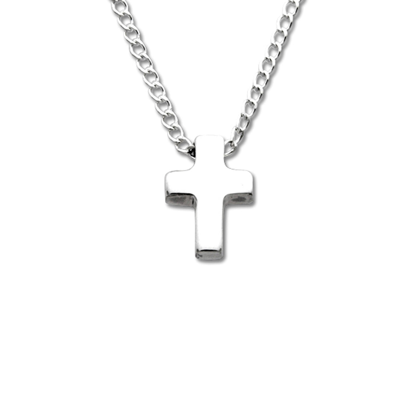 Tiny Square Cross, Sterling Silver