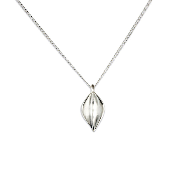 Small Leaf Pendant, Sterling Silver
