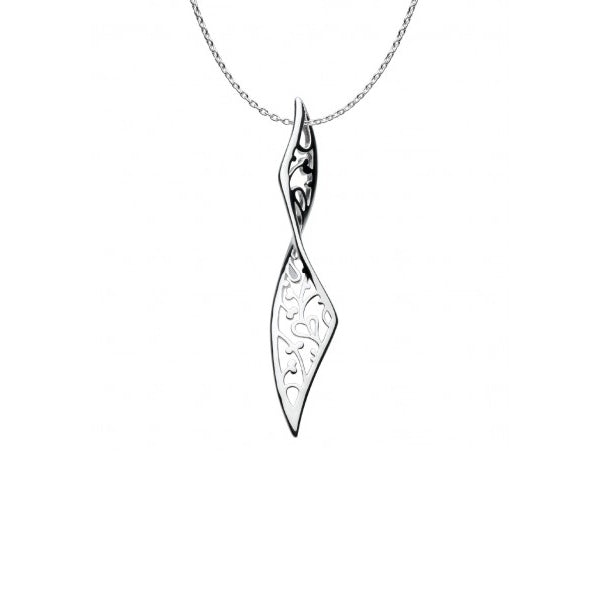 Large Flourish Pendant, Sterling Silver
