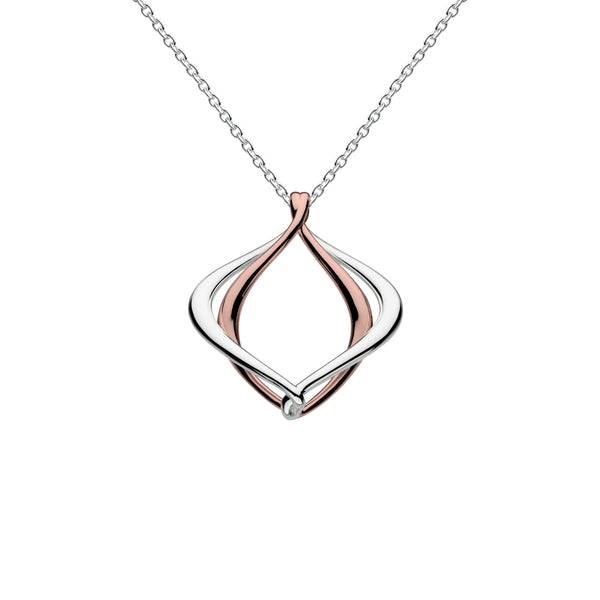 Alice Pendant, Sterling Silver with 18K Rose Gold Plating