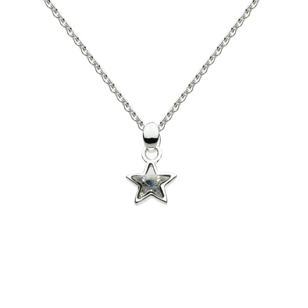 Colorless Swarovski Crystal Star Pendant, Sterling Silver