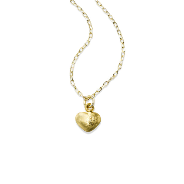 Petite Heart Pendant, Sterling Silver, Gold Filled