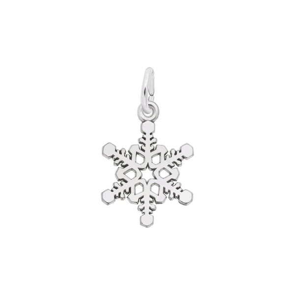 Snowflake Charm Pendant, Sterling Silver