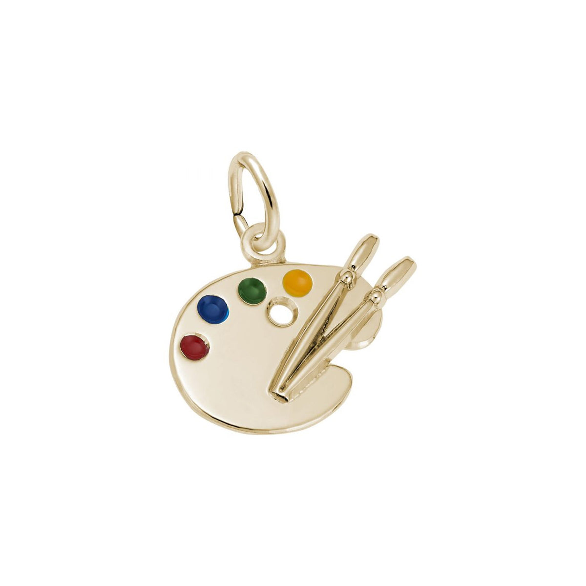 Small Artist Palette Charm, 14K Yellow Gold