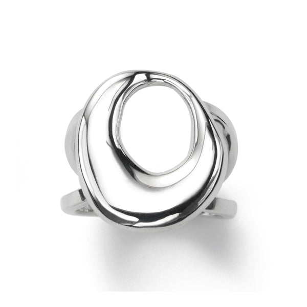 Sleek Open Curve Ring, Sterling Silver