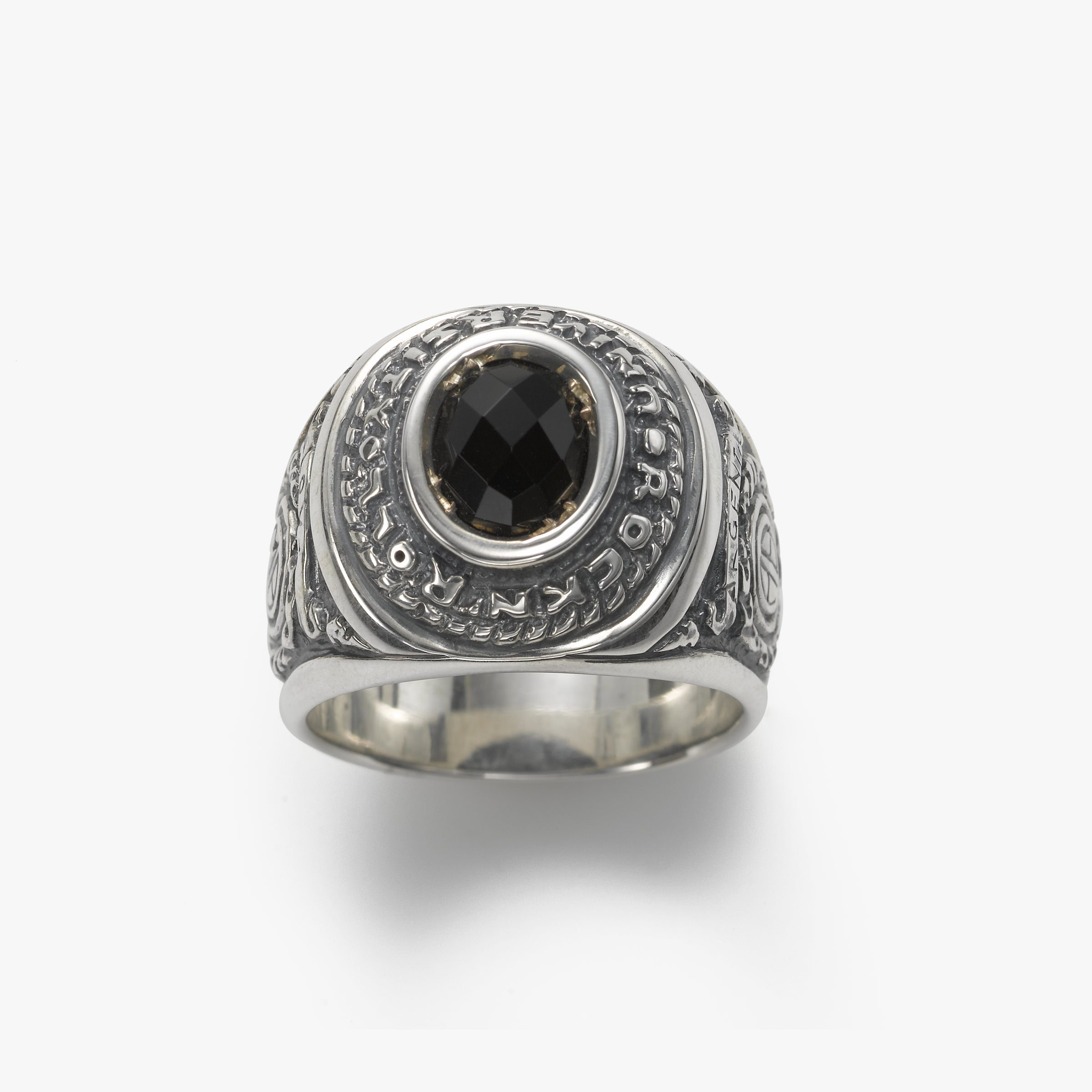 Men's Onyx Ring, Size 10, Sterling Silver by Manuel Bozzi
