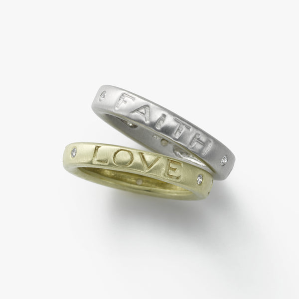 'Love' Stacking Ring, Vermeil, by Susan Michel